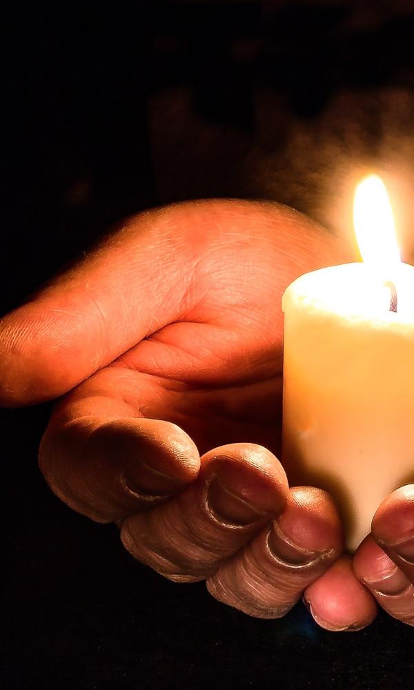 Kerze zu Samhain Schamane Gerhard Zirkel